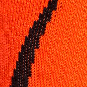 Young Mens Activewear: Socks: Black/Blaze Orange Under Armour Undeniable Crew Socks