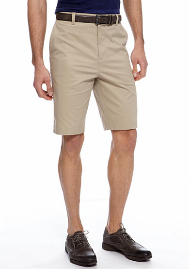 MADE Cam Newton Big & Tall Khaki Flat Front Shorts