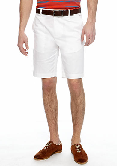 MADE Cam Newton Big & Tall White Flat Front Shorts - Online Only