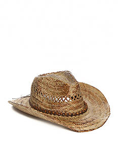 Colombino Tea-Stained Straw Western Hat