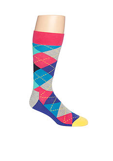 Happy Socks Men's Argyle Crew Socks - Single Pair