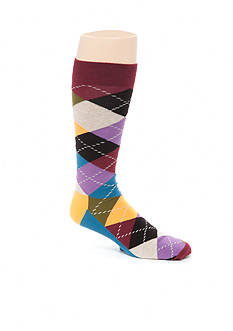 Happy Socks Big & Tall Men's Argyle Crew Socks - Single Pair