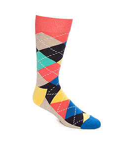 Happy Socks Big & Tall Argyle Print Combed Cotton - Single Pair