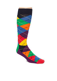 Happy Socks Big & Tall Argyle Print Socks- Single Pair