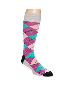 Happy Socks Men's Big & Tall Argyle Crew Socks - Single Pair