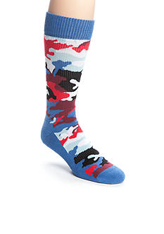 Happy Socks Men's Athletic Camo Crew Socks - Single Pair