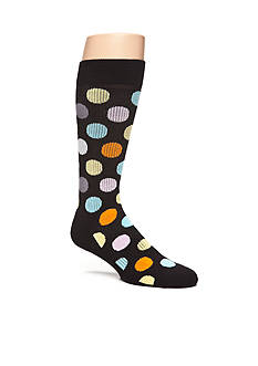 Happy Socks Men's Big Dot Athletic Crew Socks - Single Pair