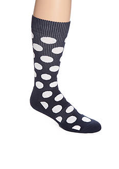 Happy Socks Men's Athletic Big Dot Crew Socks - Single Pair