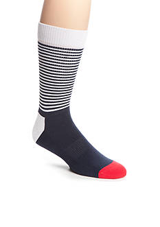 Happy Socks Men's Athletic Half Stripe Crew Socks - Single Pair