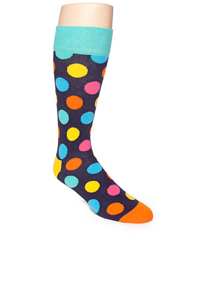 Happy Socks® Bright Large Dot Crew Socks - Single Pair