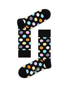 Happy Socks Men's Big & Tall Big Dot Print Crew Socks - Single Pair