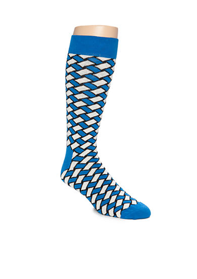 Happy Socks® Men's Big & Tall Basket Weave Print Crew Socks - Single Pair