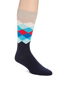 Happy Socks Faded Diamond Crew Socks - Single Pair