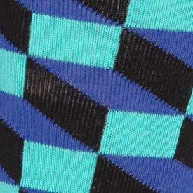 Happy Socks: Blue/Green Happy Socks Filled Optic Crew Socks - Single Pair