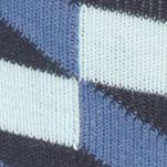Happy Socks: Blue Combo Happy Socks Filled Optic Crew Socks - Single Pair