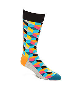 Happy Socks Filled Optic Multi Crew Socks