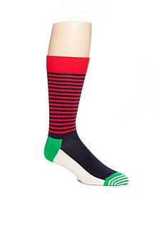 Happy Socks Christmas Halfstripe Crew Socks - Single Pair