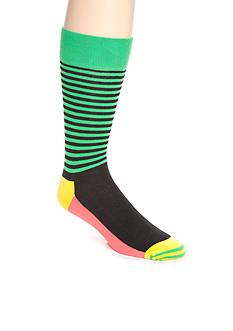Happy Socks Men's Half Stripe Crew Socks - Single Pair