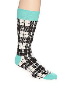 Happy Socks Iris Plaid Crew Socks - Single Pair