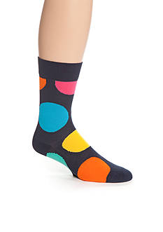 Happy Socks Jumbo Dot Crew Socks - Single Pair