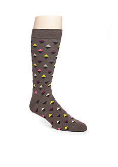Happy Socks Big & Tall Combed Cotton Many Diamond Print Socks- Single Pair