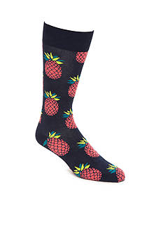 Happy Socks Big & Tall Pineapple Socks - Single Pair