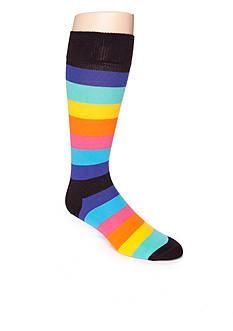 Happy Socks Bright Stripe Crew Socks - Single Pair