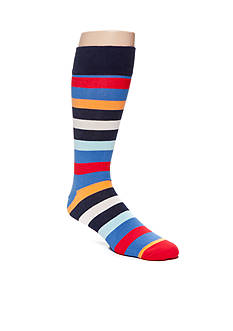 Happy Socks Big & Tall Combed Cotton Stripe Print- Single Pair