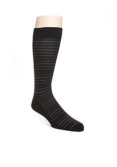 Happy Socks Big & Tall Combed Cotton Thin Stripe Print Socks- Single Pair
