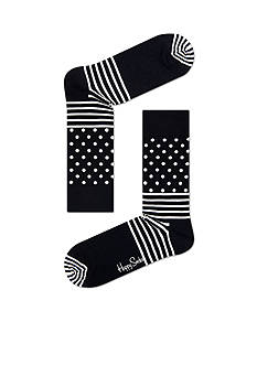Happy Socks Men's Stripe & Dot Crew Socks - Single Pair