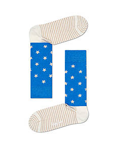 Happy Socks Men's Stars and Stripes Crew Socks - Single Pair