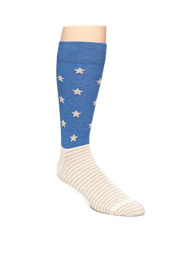 Happy Socks® Men's Stars & Stripes Print Crew Socks - Single Pair