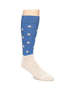 Happy Socks Men's Stars & Stripes Print Crew Socks - Single Pair