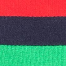Young Men: Happy Socks Underwear & Socks: Navy/Bright Happy Socks Men's Stripe Crew Socks - Single Pair