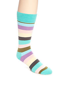 Happy Socks Men's Rugby Stripe Crew Socks - Single Pair