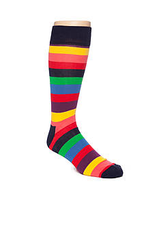 Happy Socks Big & Tall Stripe Print Socks- Single Pair
