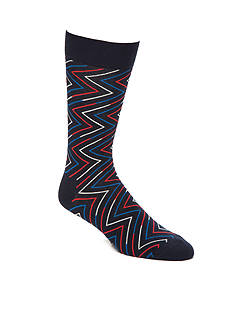 Happy Socks Ziggy Navy Bright Crew Socks