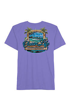 Saddlebred Big & Tall Ocean Life Adventures Short Sleeved Screen Tee