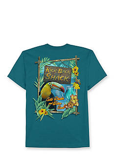 Saddlebred® Big & Tall Kick Back Shack Printed Graphic Tee