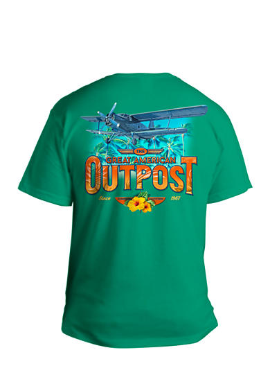Saddlebred® Big & Tall The Great American Outpost Plane Graphic Tee