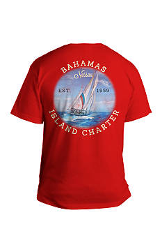 Saddlebred® Big & Tall Bahamas Island Charter Graphic Tee