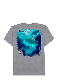 Saddlebred® Big & Tall Atlantic King Fish Short Sleeve Graphic Tee