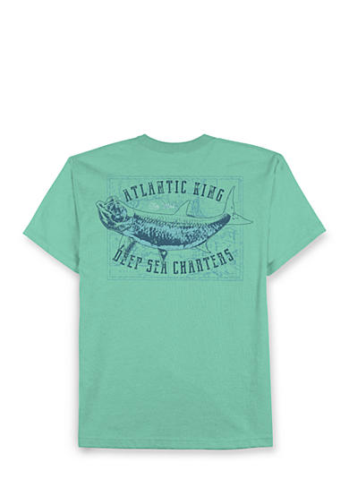 Saddlebred® Big & Tall Deep Sea Charters Graphic Tee