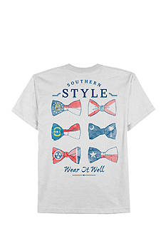 Saddlebred® Big & Tall Short Sleeve Southern Style Bow Tie Tee