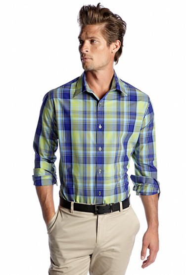 MADE Cam Newton Big & Tall Plaid Woven Shirt - Online Only