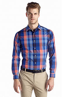 MADE Cam Newton Non-Iron Large Plaid Woven Shirt