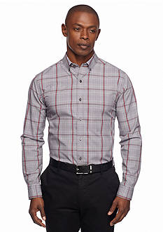 MADE Cam Newton Long Sleeve Non-Iron Glen Plaid Shirt