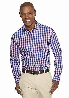 MADE Cam Newton Long Sleeve Non-Iron Gingham Shirt