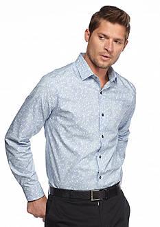 MADE Cam Newton Long Sleeve Paisley Woven Shirt