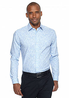 MADE Cam Newton Paisley Over Gingham Woven Shirt